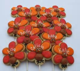 thanksgiving themed cookies turkey personalized thanksgiving holiday decorated sugar