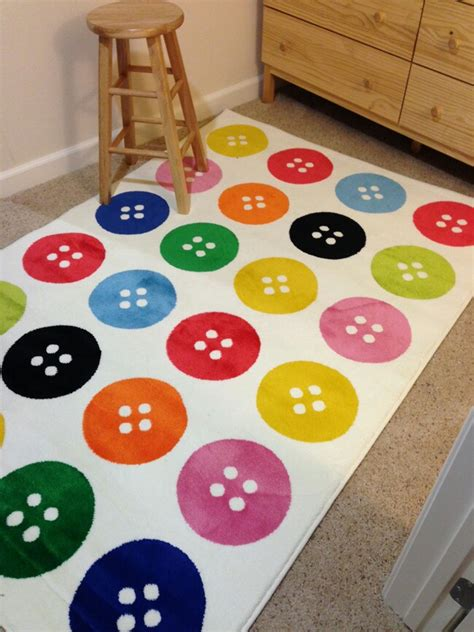 playroom rugs ikea ikea button rug home textiles buttons pinterest