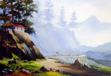 buy a mountain buy painting mountain road artwork no 7487 by indian