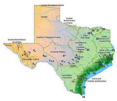 texas landform map and artificial geographic systems and voting