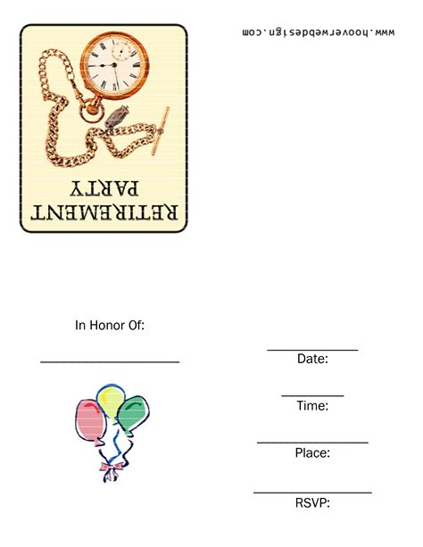 printable retirement templates 6 best images of jewelry party invitation free printable