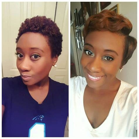 blow out on natural short black tapered straightened twa short hairnista pinterest straight