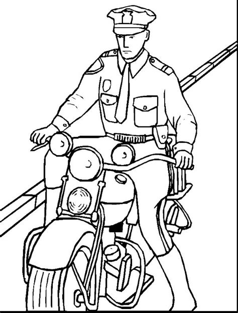 police officer coloring book page coloring pages