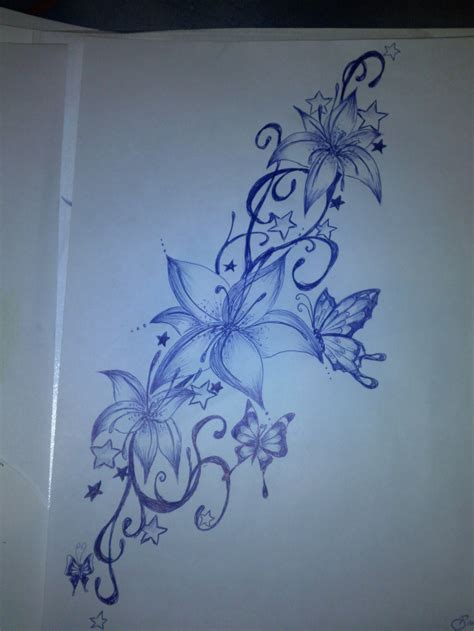 design flower and butterfly tattoo design flowers butterflies by bibionxtc on deviantart