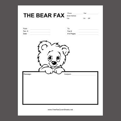 New Fax Cover Sheets