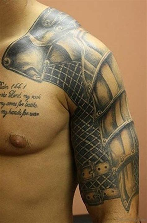 knight armor tattoo 55 great armor tattoos for chest