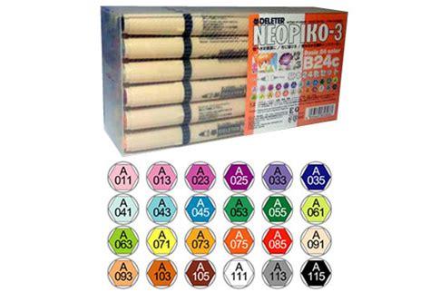 deleter shop deleter shop neopiko 3 basic 24 colors set