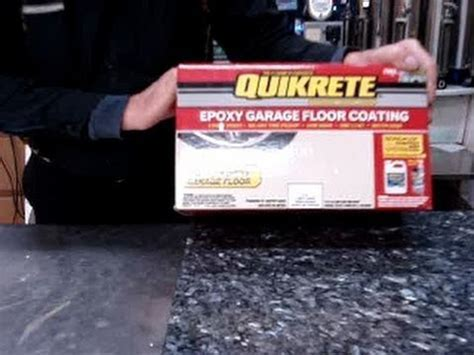 Quikrete epoxy garage, basement floor painting and