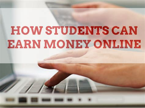 How To Make Money Online As A Student - how students can earn money online one cent at a time