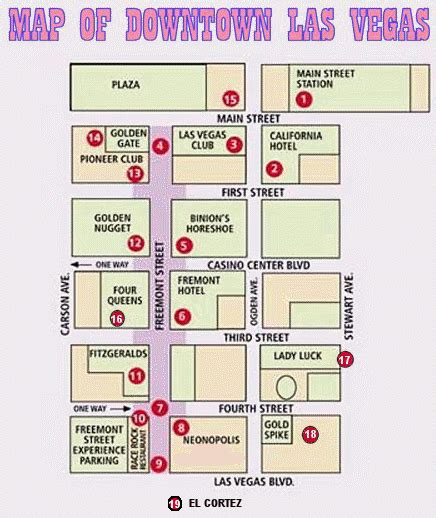 map of las vegas downtown casinos lasvegasinsider las vegas downtown guide hotels