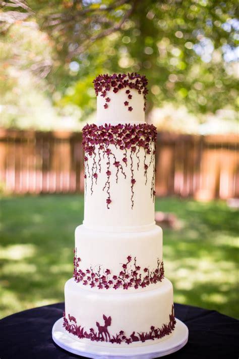 burgundy wedding cake by kendra s country bakery cakesdecor