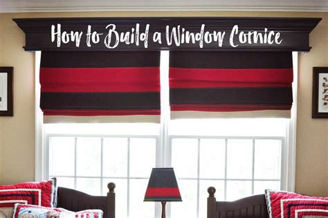 How To Build Window Cornice by Remodelaholic How To Build And Hang A Window Cornice