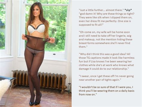 wife watching caption tg caption tights too tight by frommisogynisttomaid on