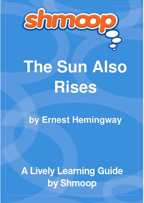The Sun Also Rises Essay by Cheap Write My Essay The Sun Also Rises Thought Paper Courseworkexles X Fc2