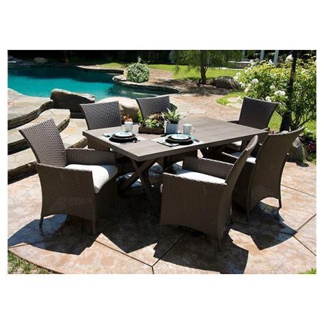 nureesa lonsdale 7 faux wood wicker patio dining
