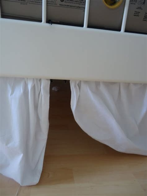 ikea bed skirt white cottage chic one year later