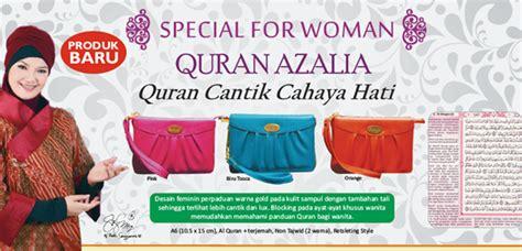 Syaamil Al Quran Azalia A6 Kulit Kerut Resleting Kecil 95x135 A2 syaamil quran rainbow azalia quran special for