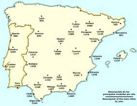 Spain Map With Cities by File Spain Reconquista Cities Png Wikimedia Commons