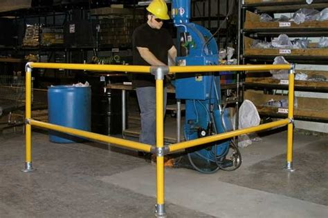 Safety Handrails Kwik Kit Safety Rail Preassembled Safety Rail Sections