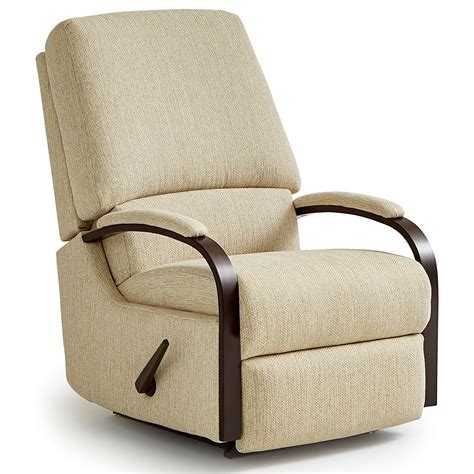 Best Home Furnishings Recliners Medium Pike Swivel Rocker Swivel Recliner Chair