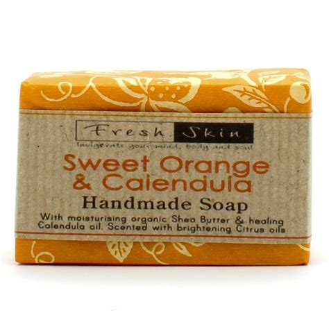 Handmade Soap Names - traditional handmade soap sweet orange calendula 3