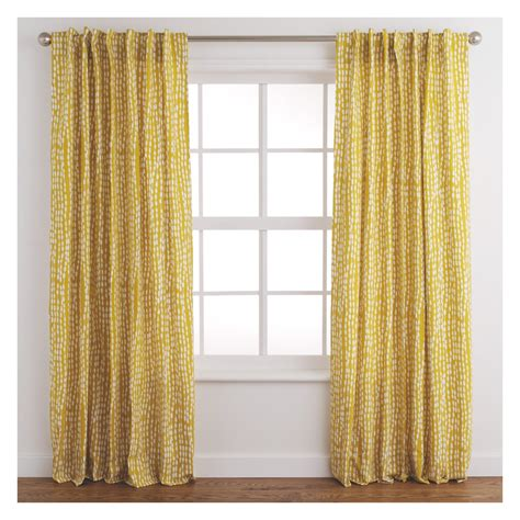 yellow drapes trene pair of yellow patterned curtains 145 x 170cm buy