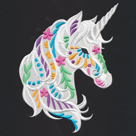 Embroidery Design Unicorn | bohemian unicorn urban threads unique and awesome