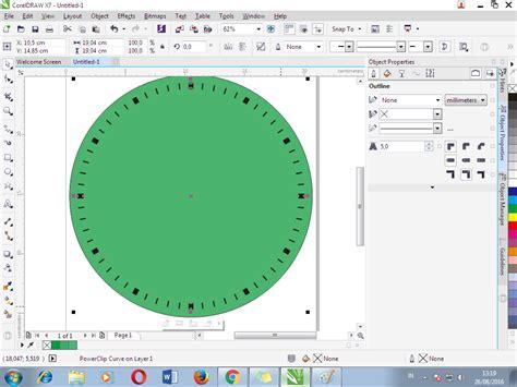 tutorial membuat jam dinding cara membuat design jam dinding dengan corel draw