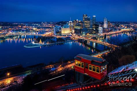 pittsburgh christmas light up night photograph by ron