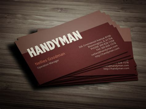 handyman card template handyman toolkit business card business card templates