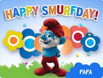 the smurfs birthday ecard