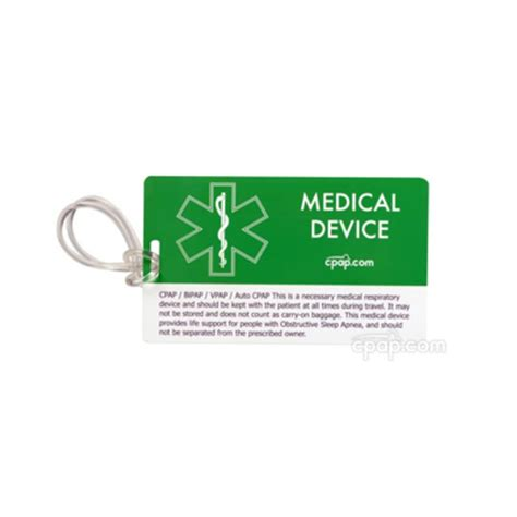 printable medical name tags cpap com cpap com medical identification luggage tag for