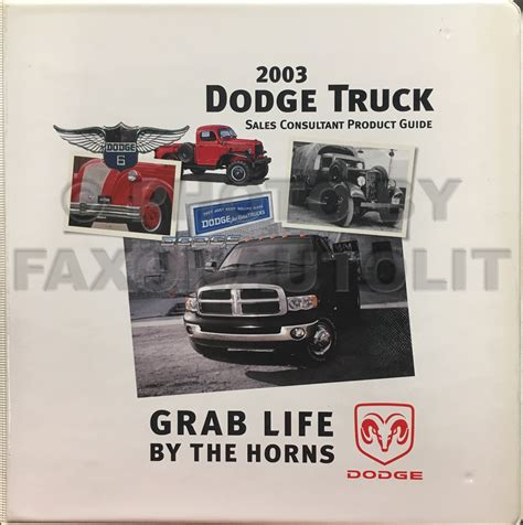 2003 dodge truck data book and color upholstery album
