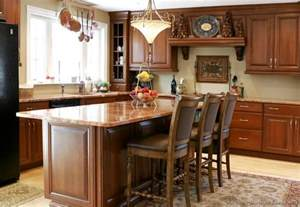 Kitchen Island Table With Chairs Pictures Of Kitchens Traditional Medium Wood Kitchens Cherry Color
