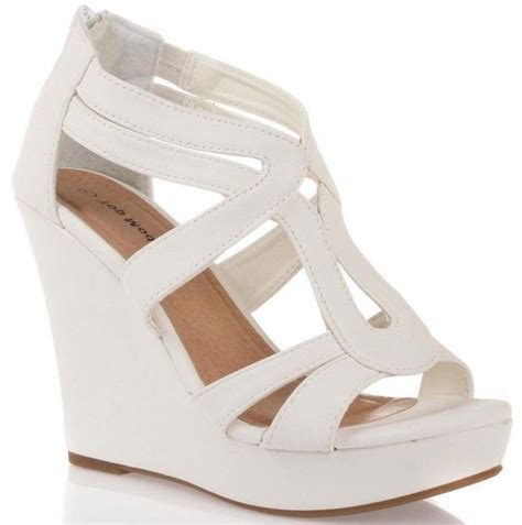 White Sandal 2 inch white wedge sandals low wedge sandals