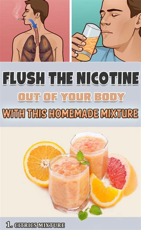 Nicotine Detox Drink Tarter by Flush The Nicotine Out Of Your With This