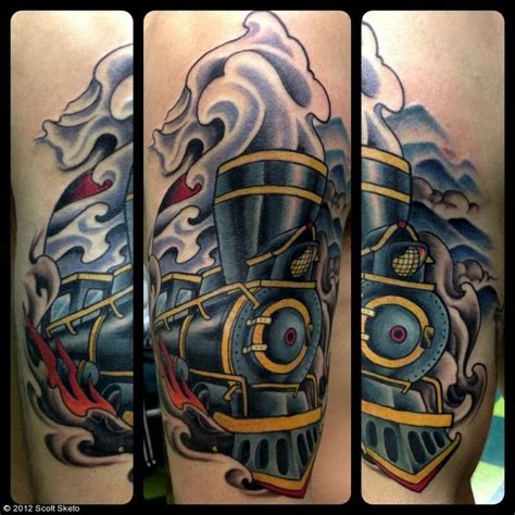 steam train tattoos steamtrain tattoo random