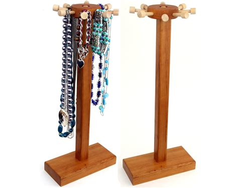 how to make a jewelry stand necklace holder stand jewelry display cherry by