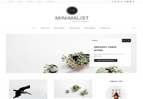 minimalist responsive blogger template free download