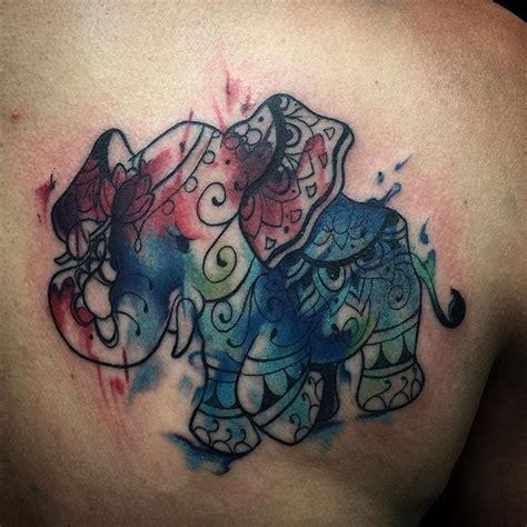 watercolor tattoo jakarta watercolor elephant tattoo tattoos that i love