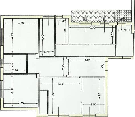 planimetria di un appartamento progetto 135 mq architettura a domicilio 174