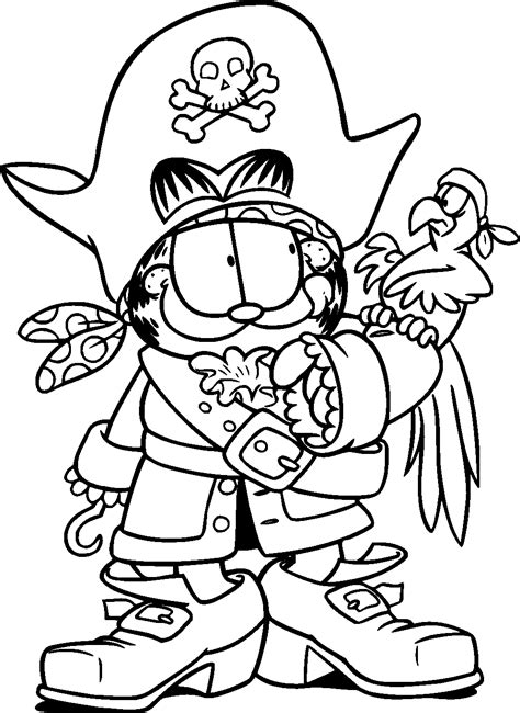 garfield halloween coloring pages coloring home