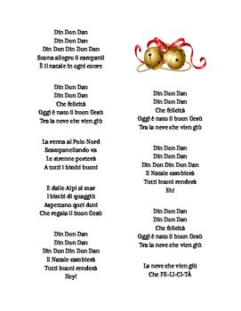 jingle bells testo italiano din don dan din don dan jingle bells in italian italiano