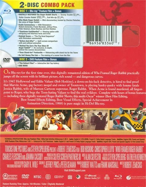who framed roger rabbit blu ray who framed roger rabbit 25th anniversary edition dvd