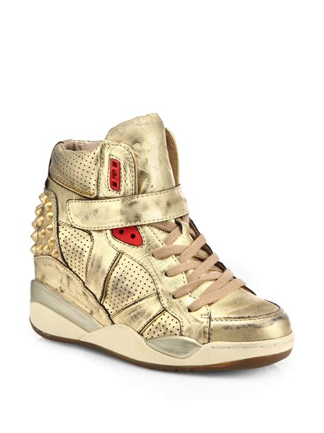 gold wedge sneaker metallic wedge sneakers 28 images sky wedge sneaker in