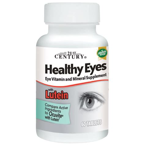 Vitamin Lutena 21st century healthy potent 60 tabs lutein vitamins a c e zinc bs ebay