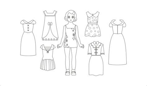paper doll template with clothes paper dolls free premium templates