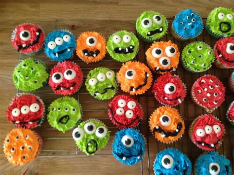 Monster Cupcakes With Eyeballs Perfect For A First