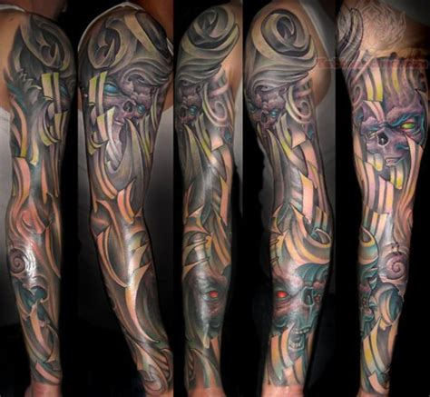 mechanical sleeve tattoo mechanical arm