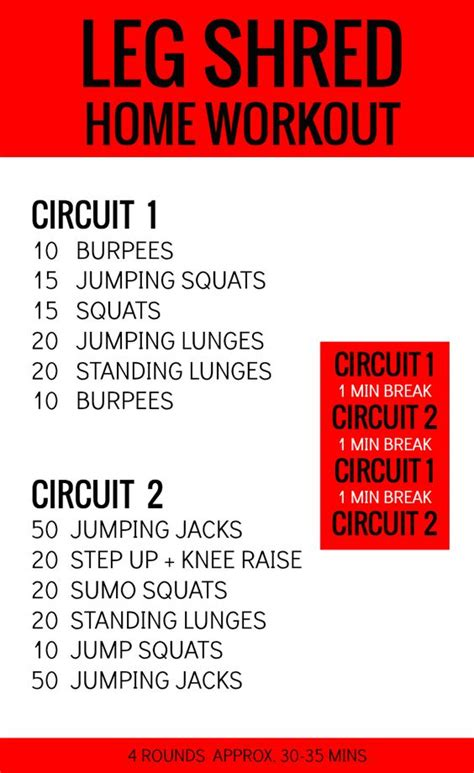 at home leg workout get your legs shredded with this
